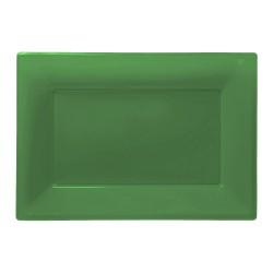 Vassoi Plastica Verde Scuro 3pz