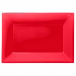 Vassoi Plastica Rosso 3pz