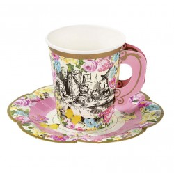 Truly Alice Cups & Saucers Set - Alice in Wonderland Party