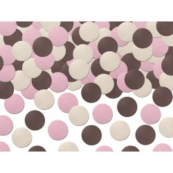 Pink and Brown Mix Confetti
