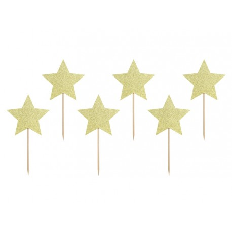 Gold Stars Toppers
