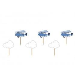 Stecchini decorati Aeroplani e Nuvole
