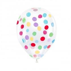 Multicolor Confetti Clear Balloons