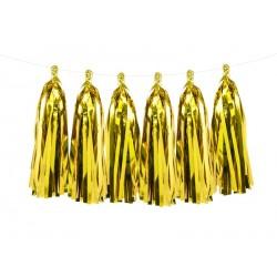 Ghirlanda di nappine Oro Foil