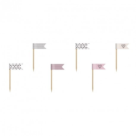 Pink Dots Mix Buffet Mini Flags