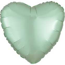 Mint Green Heart Foil Balloon