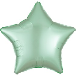Mint Green Star Foil Balloon