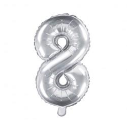 8 Silver Foil Balloon