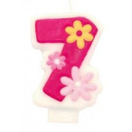 Girls Birthday Pink Candle 7