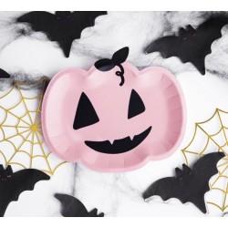Pink Pumpkin Halloween Plates