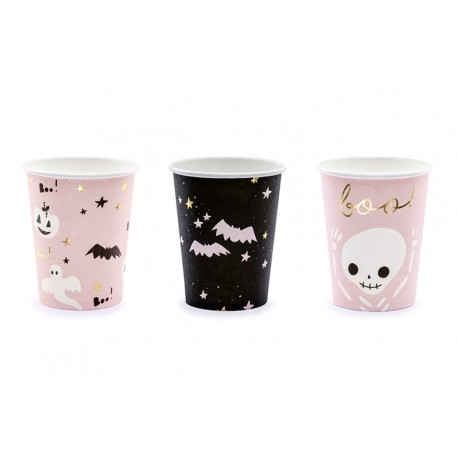 Pink Halloween Cups