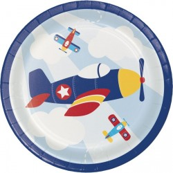 Flyer Airplane Desser Plates