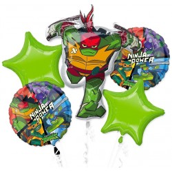 Ninja Turtles Foil Balloons Bouquet