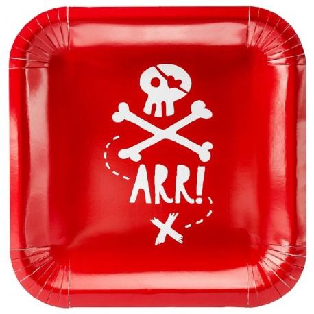 Piattini Pirate's Party per festa tema Pirati