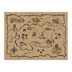Pirates Treasure Map Placemats