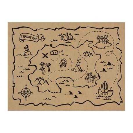 Pirates Treasure Map Placemats