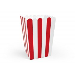 Red Stripes Popcorn Boxes