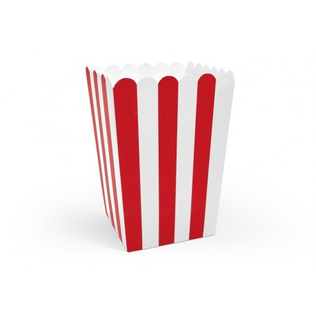Red Stripes Treat Boxes