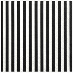 White and black Stripes paper napkins
