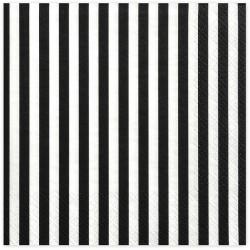 White and black Stripes Napkins
