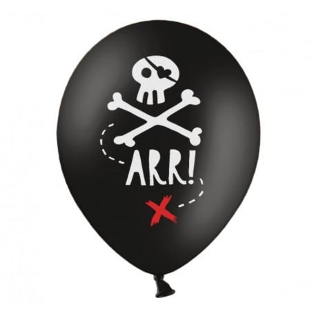 Palloncini Teschio Pirata 5pz