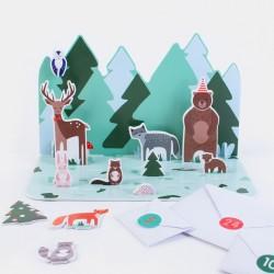 Calendario dell'Avvento Animali della Foresta