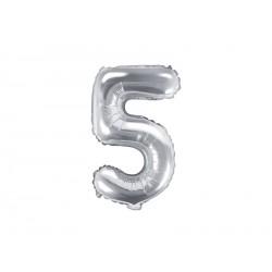 Palloncino foil numero 5 Silver