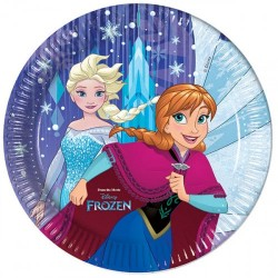 Frozen Snowflakes Plates