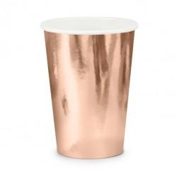 Bicchieri Oro Rosa Metallizzato 6pz