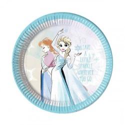 Frozen Sparkle Plates