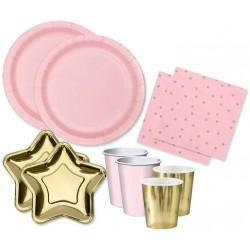 Little Stars Pink and Gold Party Set