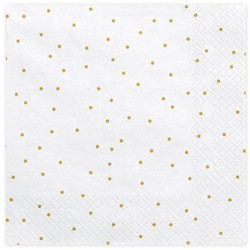 White and Golden Dots Napkins