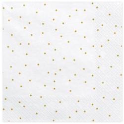 White and Golden Dots Napkins
