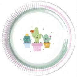 Piatti per festa tema Cactus