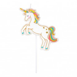 Candelina per torta compleanno Unicorno