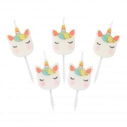 Set Candeline Unicorno
