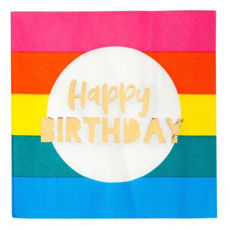 Rainbow Happy Birthday Napkins