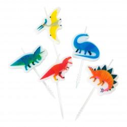 Mini Dinosaurs Candles Set