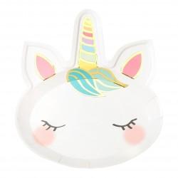 Piatti festa Unicorno - Unicorn Face