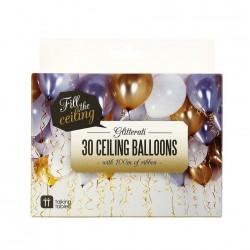 Gold Silver White Mix Balloons 30pc