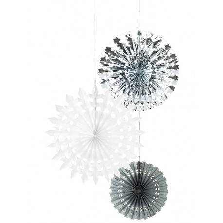 Snowflakes Hanging Cutouts Set