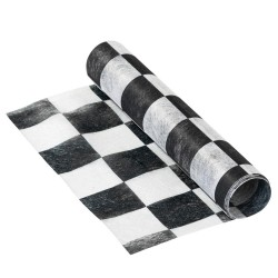 Chequered Black and White Table Runner