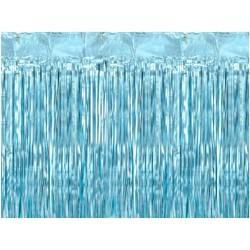 Tenda frange foil azzurro