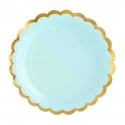 Mint and Gold Dessert Plates