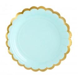 Mint and Gold Dessert Plates