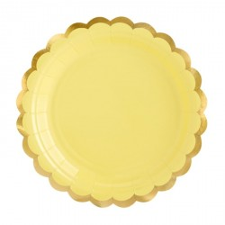 Yellow and Gold Dessert Plates
