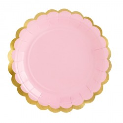 Pink and Gold Dessert Plates