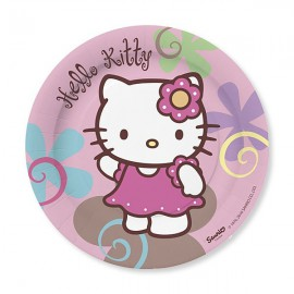 Piattini Hello Kitty Bamboo 18cm 10pz