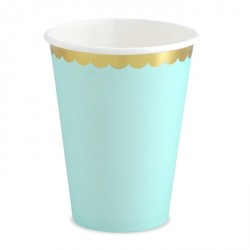 Mint and Gold Cups