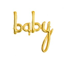 """Baby"" gold foil Balloon for Baby Shower party"